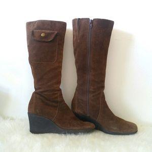Vintage Aerosoles Suede Chocolate Brown Tall Boot